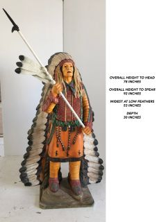 Cigar Store Indian Chief and Sexy Cowboy Figurines