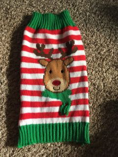 Christmas dog sweater size small see additional pics $3