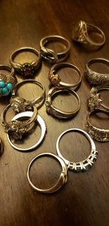 Beautiful all genuine 925 and gem stone rings and pendants