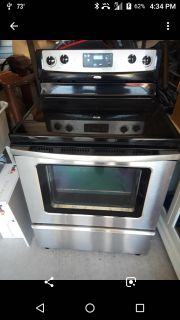 Whirlpool Gold Stainless steel glass top Gas stove/over