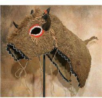 $1,000 Lakota Buffalo Hide Horse Mask