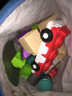 Small bag of my first building blocks
