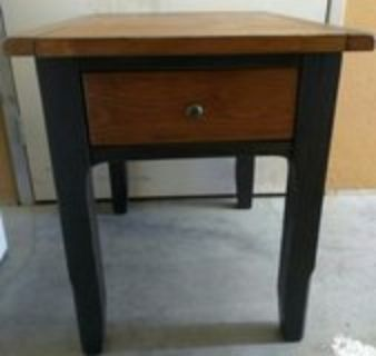Ashely Rustic Hardwood End Tables