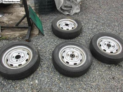 68 and up, complete wheel set with tires