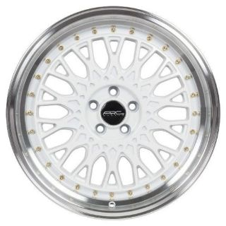 Sell ARC AR01 17x8.5 5x114.3 et30 Wheels White With Gold Rivets Civic Accord Set Of 4 motorcycle in Glendale, California, United States, for US $600.00