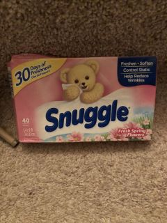 Snuggle dryer sheets ((MOVING SALE))