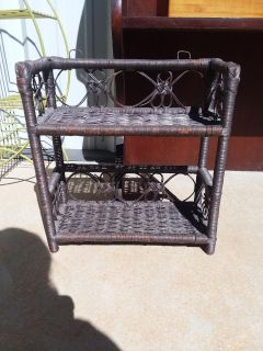 """Rattan shelf for wall or table 15"""" X 7"""" X 16"""""""