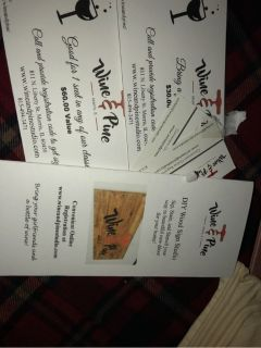 wine and pine gift certificates