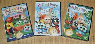 NEW Wild Animal Baby Explorers DVD Lot 25 Episodes Learn See Playtime Pals
