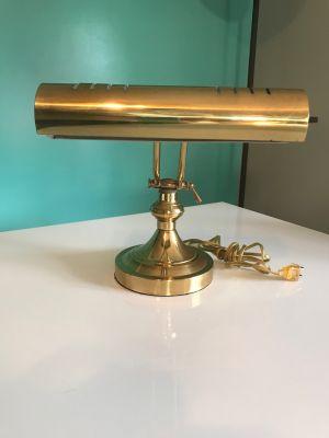 Vintage Brass Adjustable Bankers Table Desk Portab