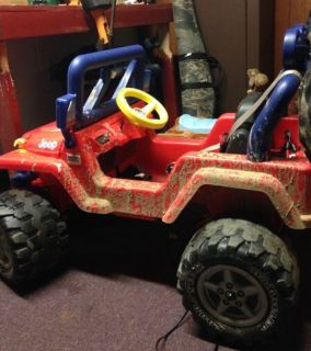 Power wheel vehicle that child sits in, not on