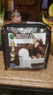 NEVER USED furniture cover or sofa protector color espresso see size in pic