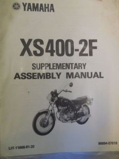 Buy Yamaha XS400-2F Assembly Manual motorcycle in Richlandtown, Pennsylvania, United States, for US $24.99