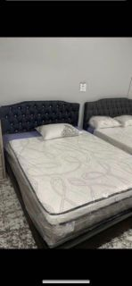 Black Diamond Leather Bed Frame