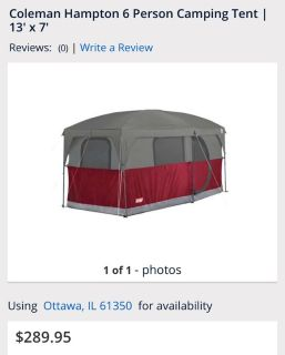 6 person coleman tent