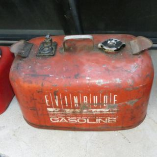 Buy Vintage Evinrude Metal Gas Tank Can Outboard Boat Motor 6 Gallon Can motorcycle in Carson, California, US, for US $29.95