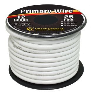 Find White 12-Gauge Primary Wire Roll of 25Ft motorcycle in Sylmar, California, United States, for US $8.50