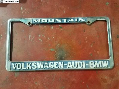 vintage VW license plate frames