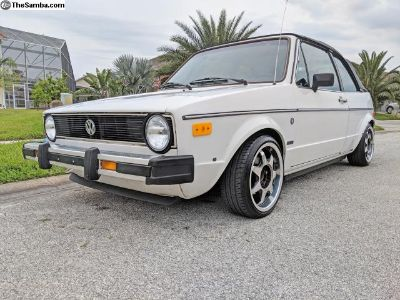 84 VW Rabbit Convertible - Clean Southern Car