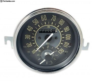New Vintage Series MPH Speedo + Clock Combo Gauges