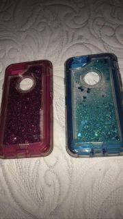 Pink and blue iPhone 6, 7, & 8 case