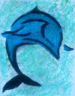 """Dolphin Impressionism"""