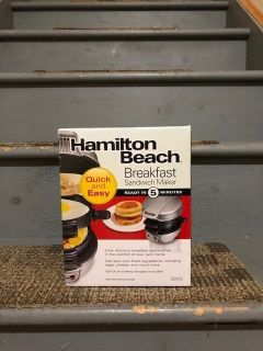 Hamilton Beach sandwich maker-brand new (unopened)