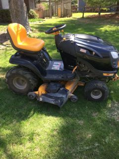 Craftsman mower would except trade of smaller mower this one is 48""