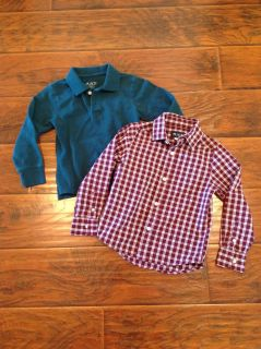 Children's Place dress shirt and long sleeve polo size xs/4