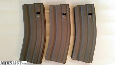 For Sale: Three (3) Preban AR15 30rd mags RARE British SA80 Steel