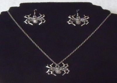 Retro Spider Necklace with matching Earrings