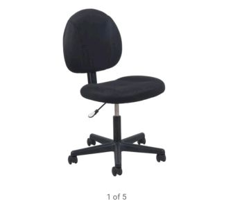 Essentials by OFM ESS-3060 Upholstered Armless Swivel Task Chair, Black