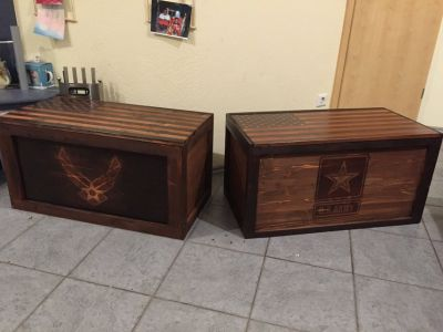 Personalized and Customized Troop Trunks
