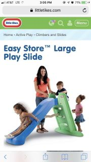 Little Tikes Easy Store Large Play Slide in GUC (mine is dark red and brown)