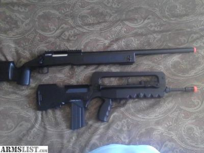 For Sale: AEG and Sniper Rifle