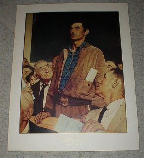 "Norman Rockwell - ""Freedom of Speech"" - Vintage Print - No. 11955 - 1990"