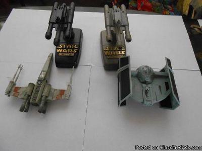 STAR WARS REBEL FLIGHT CONTROL & STAR WARS MICRO MACHINES AF IMPERIAL DARTH VADER'S TIE FIGHTER FLIGHT CONTROLLER (OPENED)