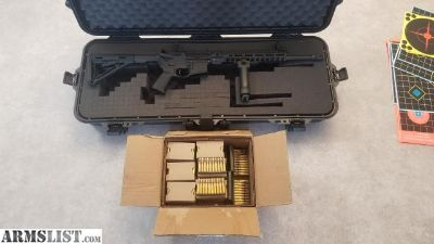 "For Sale: 16"" 5.56 AR15 with case and ammo"
