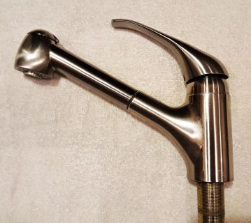 USED-American Standard Reliant Plus Single-Handle Pull-Out Sprayer Kitchen Faucet in Stainless Steel
