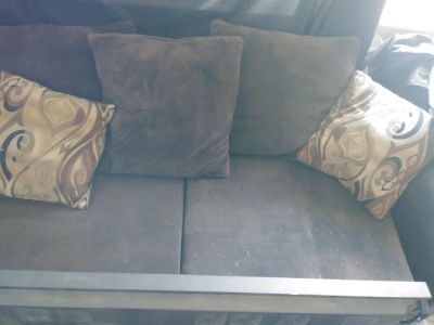 Couch with chaise lounge attachment