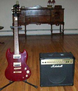 $250 Gibson Epiphone SG Guitar & Marshall Amplifier