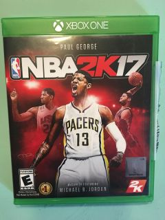 NBA 2K 17 for XBOX 1