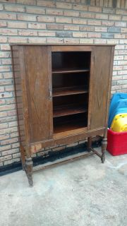 Antique china cabinet project