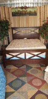 Complete Contempery Chocolate brown Queen size bed