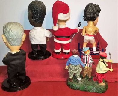 Antiques & Collectibles 3 GEMMY SINGING, MOVING, TALKING, DOLLS. 3 STOOGES, ROCK