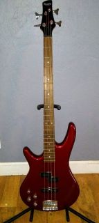 Ibanez left-handed bass guitar