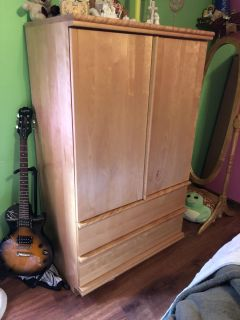 Armoire and mirror