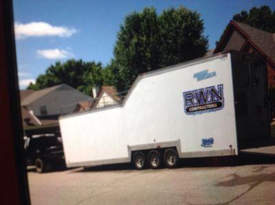 34'enclosed sprint car trailer