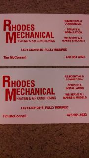Rhodes Mechanical Heating, Air Conditioning and Refrigeration