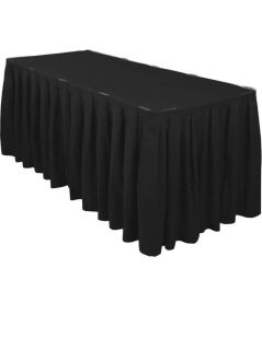 2 @ 14 black table skirts